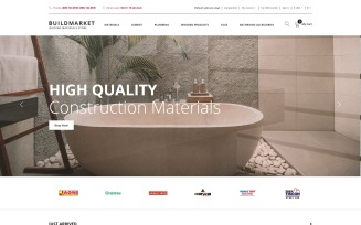 BuildMarket - Building Materials Clean OpenCart Template