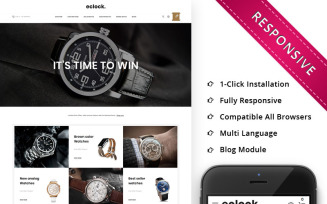 Eclock - The Watch Store Responsive OpenCart Template