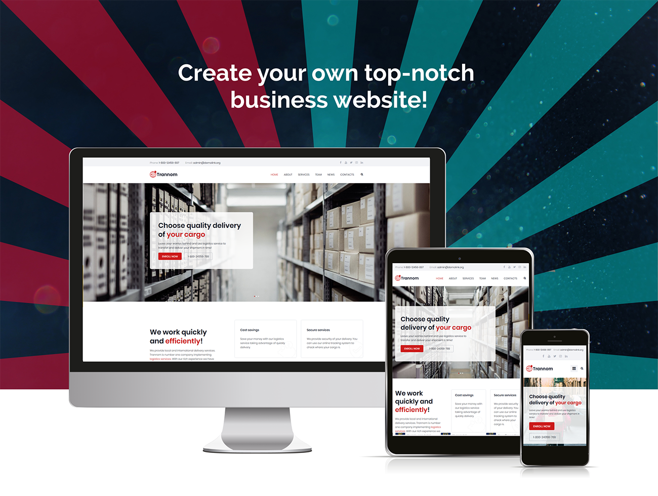 Trannom – Logistics Multipurpose Minimal Elementor WordPress Theme