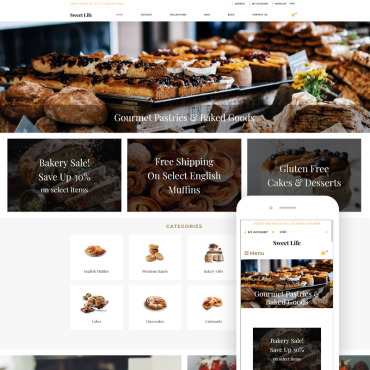 Купить  пофессиональные Shopify шаблоны. Купить шаблон #78745 и создать сайт.
