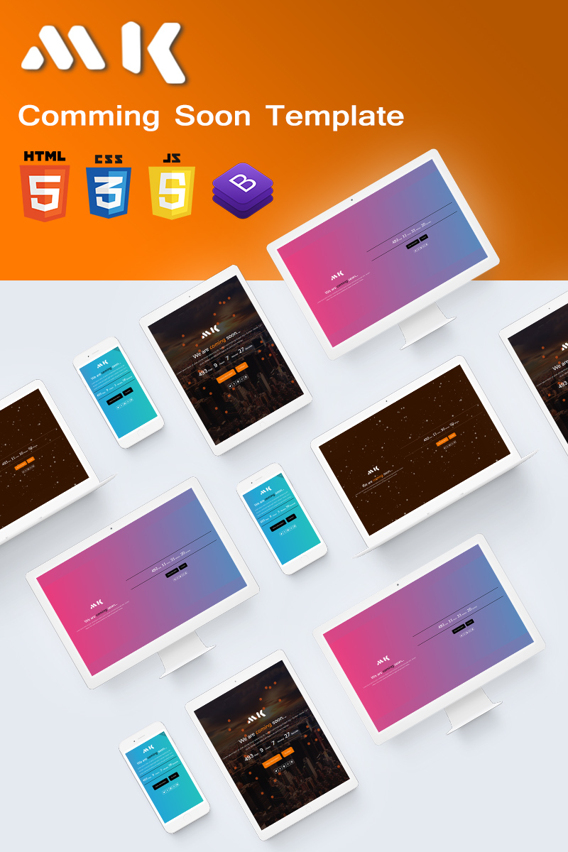 Bootstrap MK - Responsive Coming Soon Specialty Page #78743