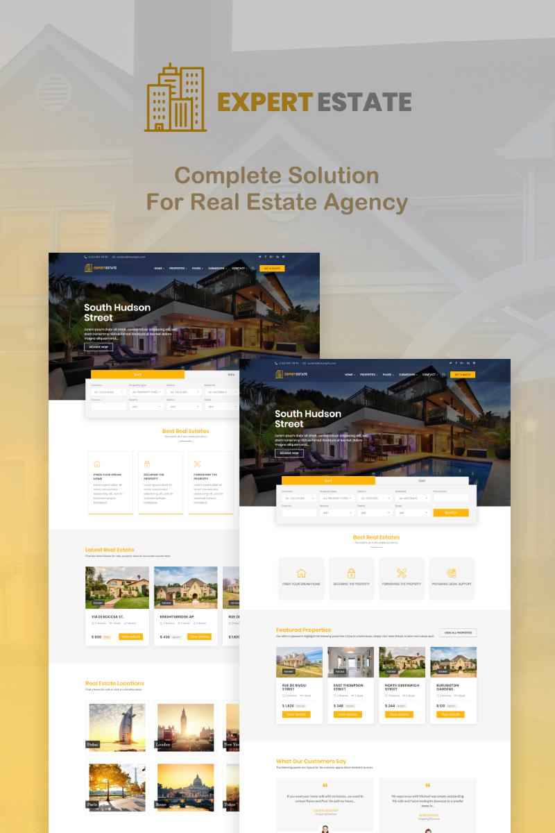 """ExpertEstate Real Estate"" Responsive WordPress thema №78783"