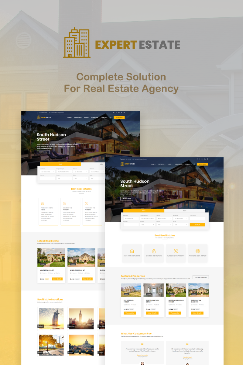 ExpertEstate Real Estate WordPress Theme