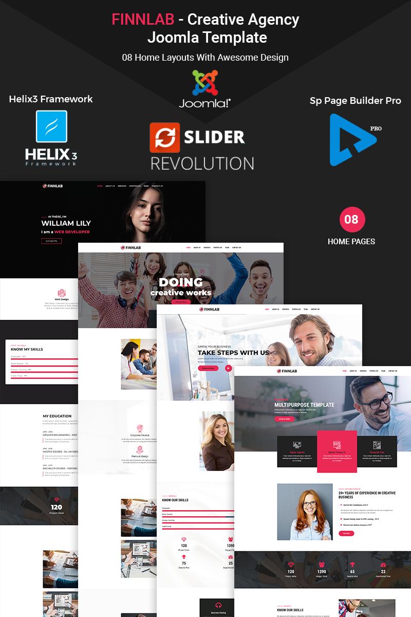 Finnlab - Creative Agency Joomla Template