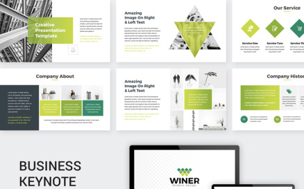Green Creative Business - Keynote template Keynote Template