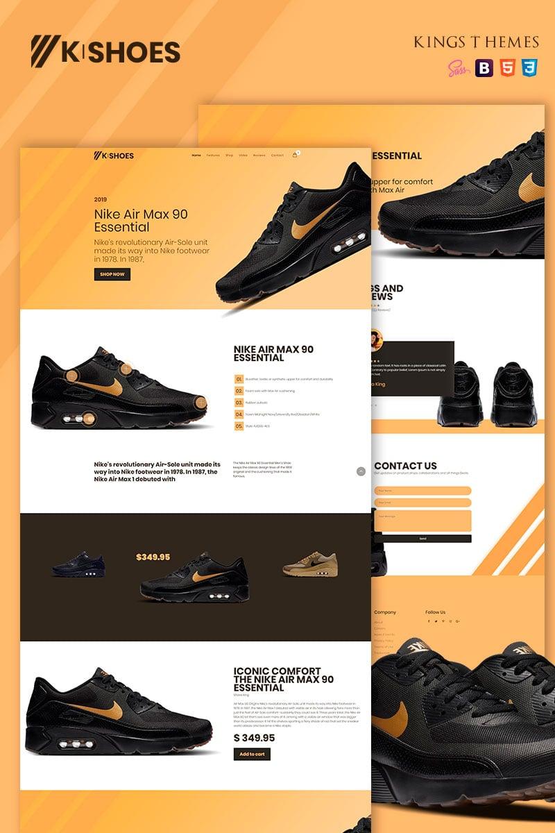 """K-shoes"" 响应式着陆页模板 #78730"