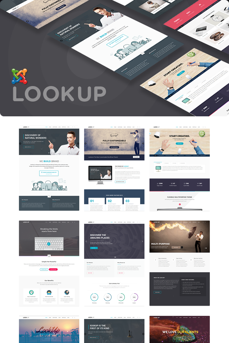 LookUp - Responsive Multipurpose. Joomla Template - screenshot