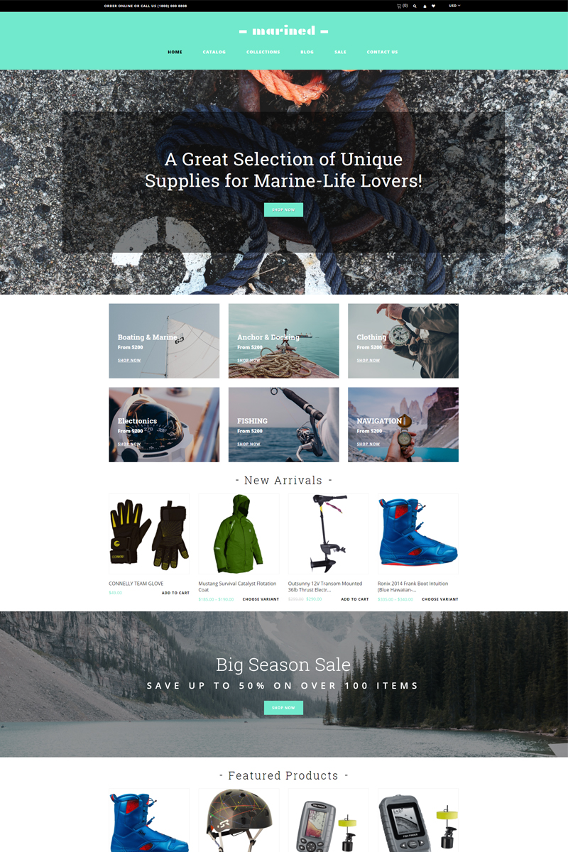Marined - Boating Accessories Clean Shopify Theme