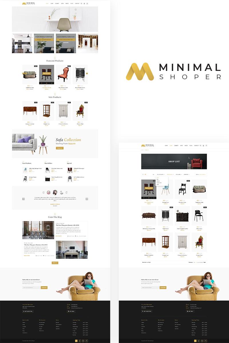 MinimalShoper PSD Template