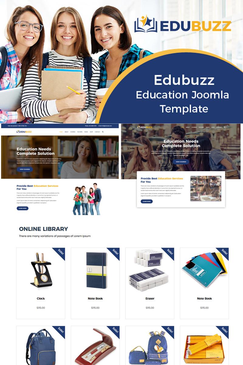 "Modello Joomla Responsive #78755 ""Edubuzz - Education Online Courses"""