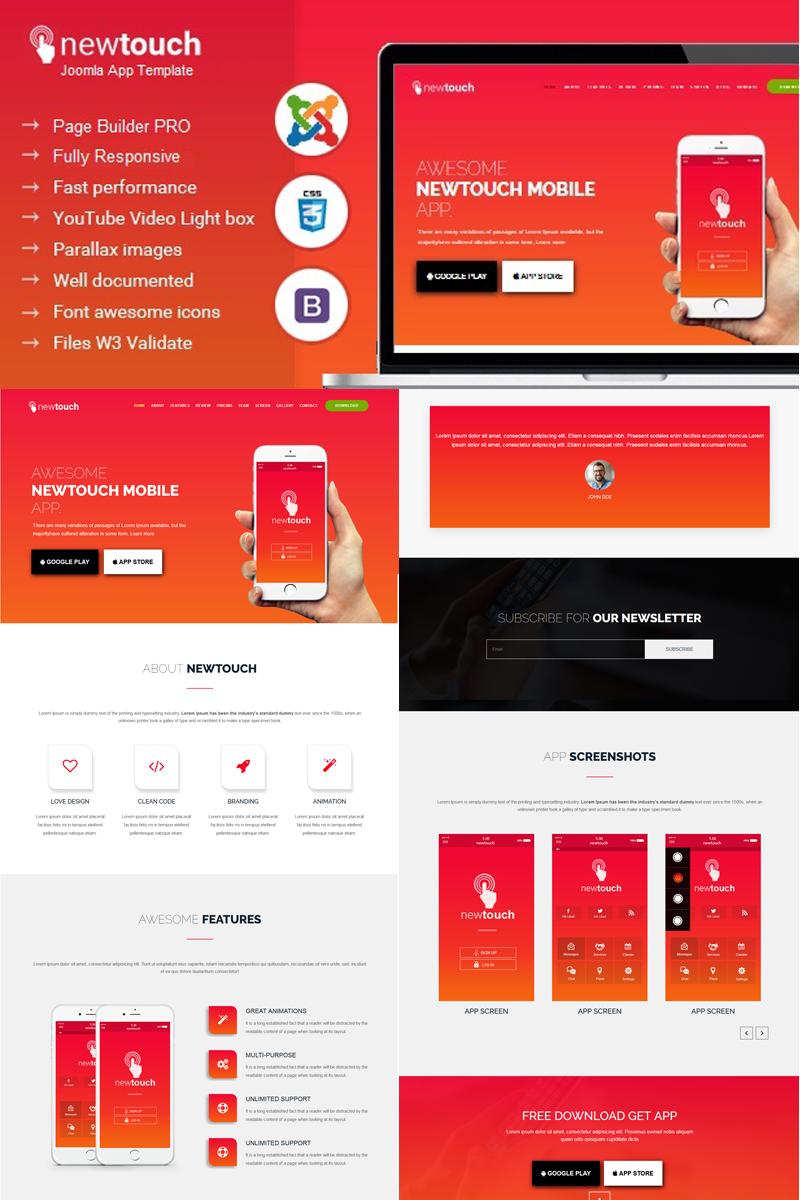 Newtouch - App Landing Technology Joomla Template - screenshot