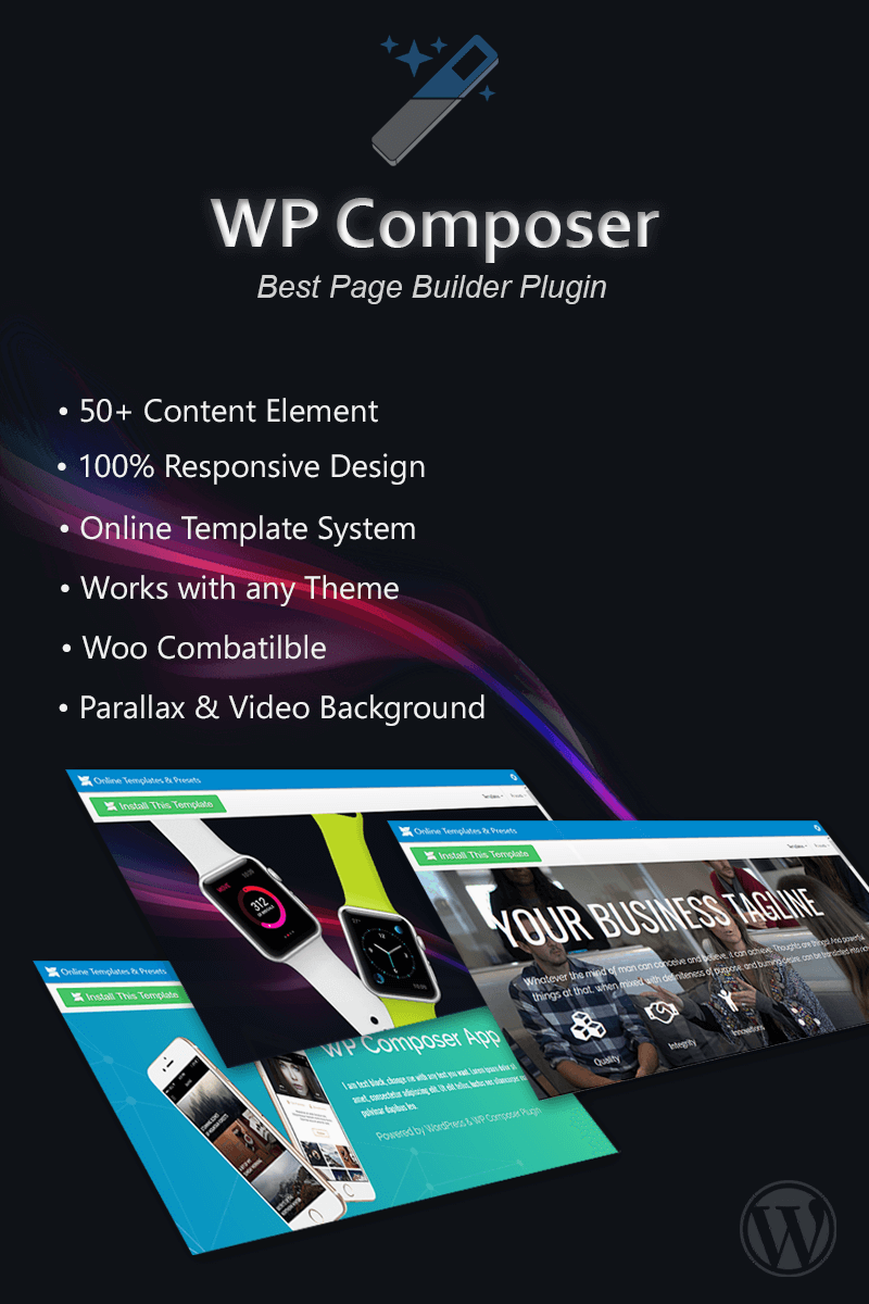 """""""Page Builder - WP Composer"""" Responsive WordPress Plug-in №78725"""