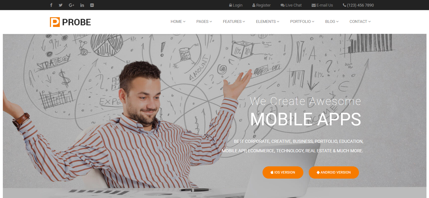 Probe - Responsive Multi-Purpose Joomla Template - screenshot