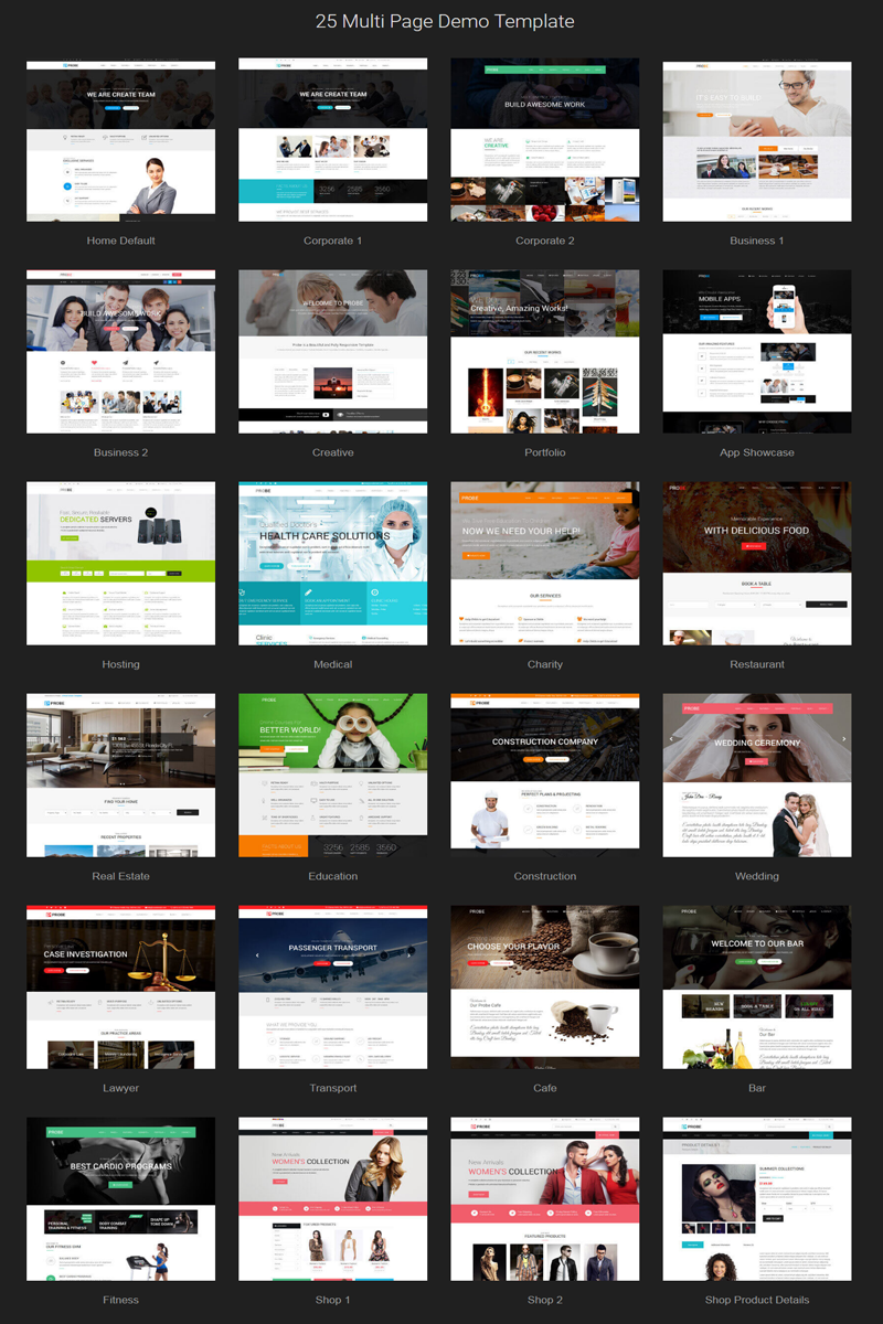 Probe - Responsive Multipurpose Joomla Template - screenshot