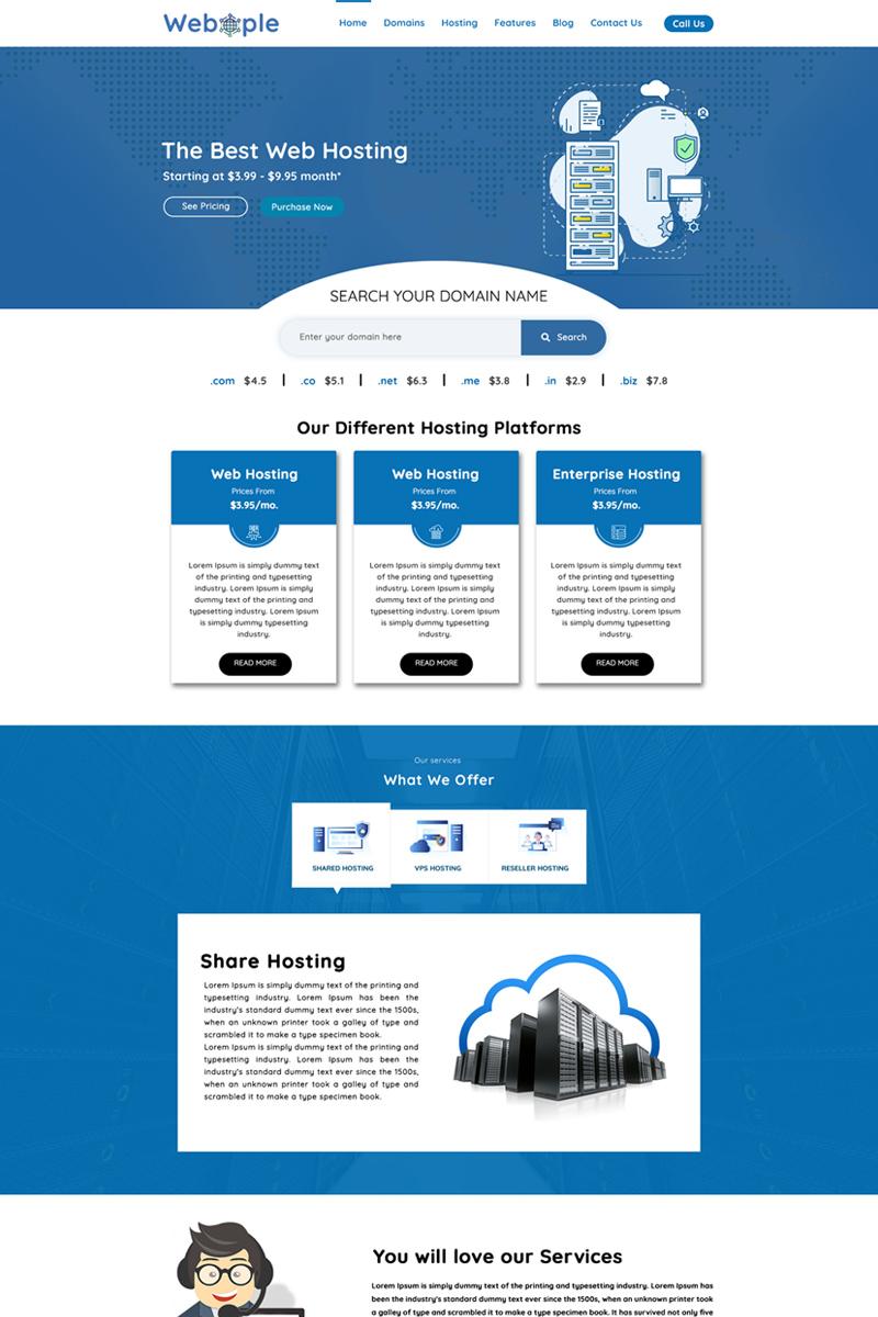 "PSD Vorlage namens ""Webople - Domain & Hosting"" #78785"