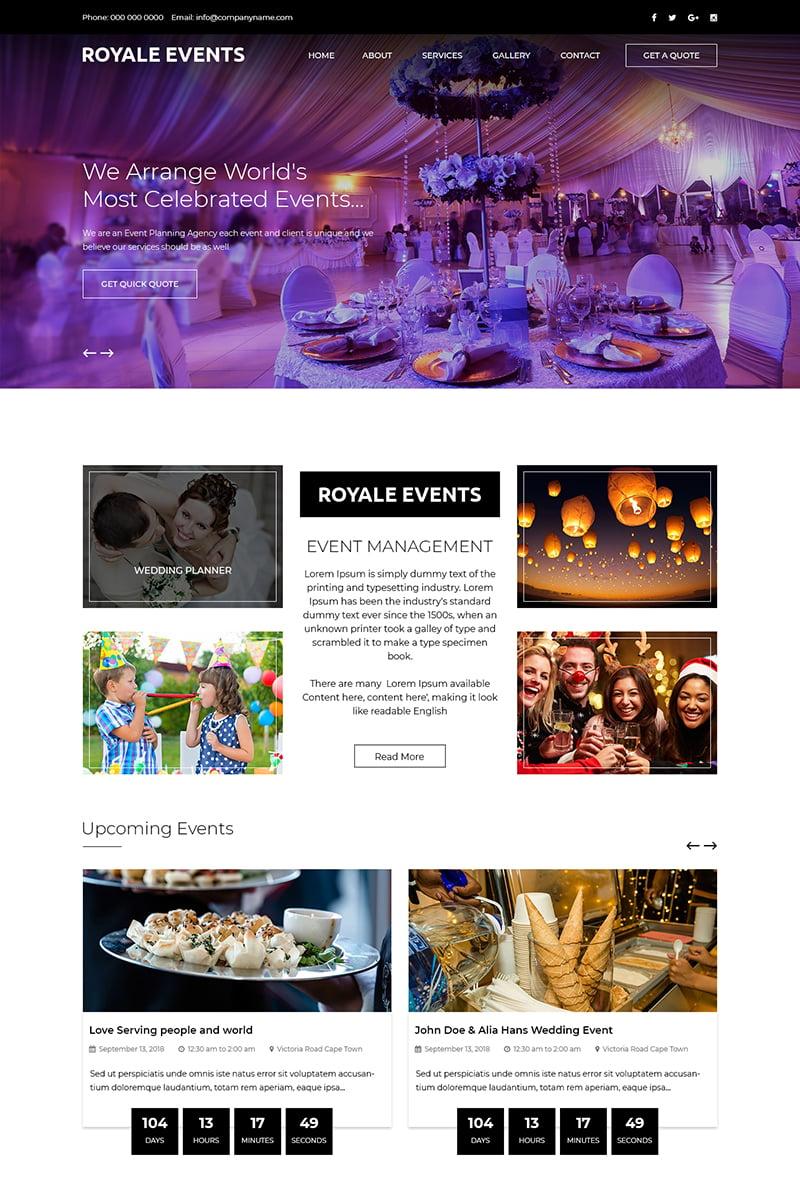 Royale Events - Multipurpose Event Management PSD Template