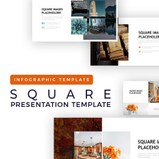 7171818db50 Square Placeholder Presentation - Infographic. Cool PPT ...