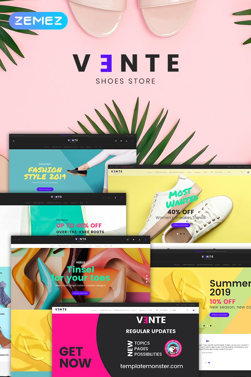 Vente - Shoes Store Clean Bootstrap Ecommerce PrestaShop Theme