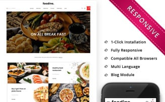 Foodine - The Pizza Shop OpenCart Template