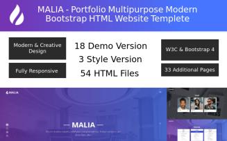 Malia - Portfolio Multipurpose Modern Bootstrap Landing Page Template
