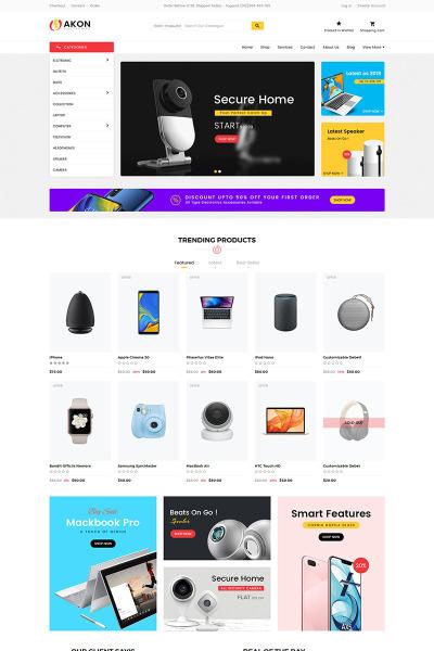 Thème Shopify adaptatif  pour site de boutique mobile