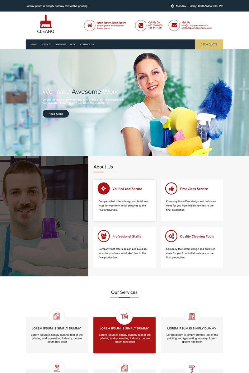 Cleano - Multipurpose Cleaning PSD Template