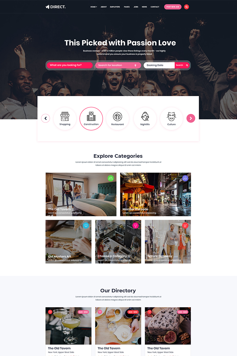 Direct - Directory PSD Template