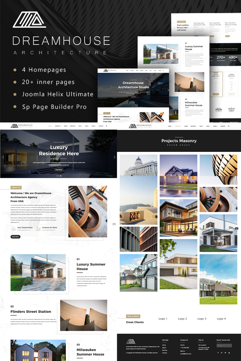 """Dreamhouse - Architecture & Interior Design"" - адаптивний Joomla шаблон №78870"