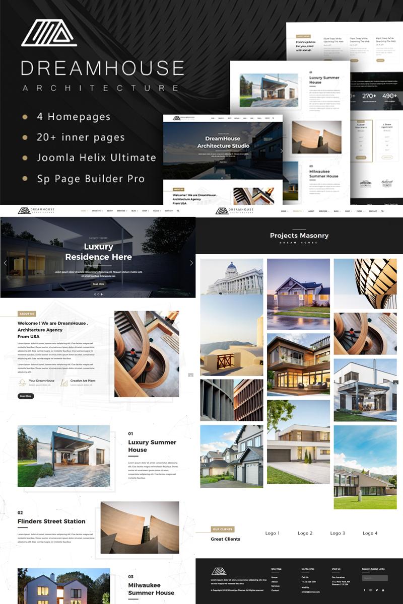 """Dreamhouse - Architecture & Interior Design"" 响应式Joomla模板 #78870"