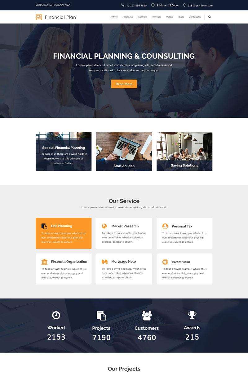 Financial Plan - Corporate & Financial Template Photoshop №78809