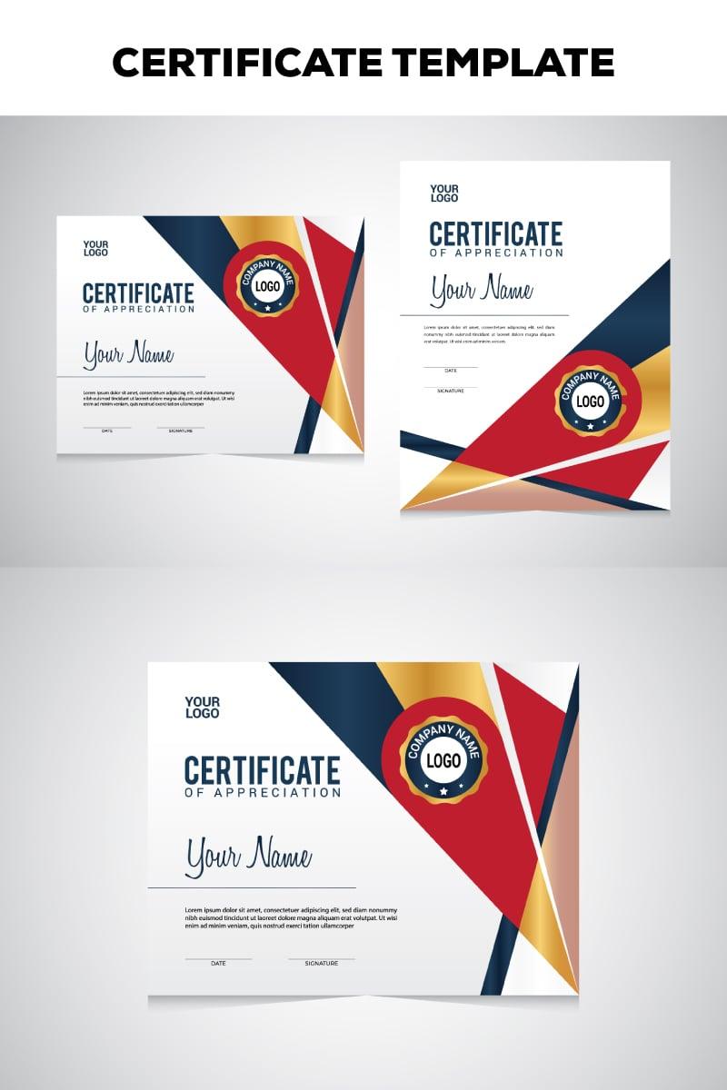 """Geometric"" modèle de certificat  #78806"