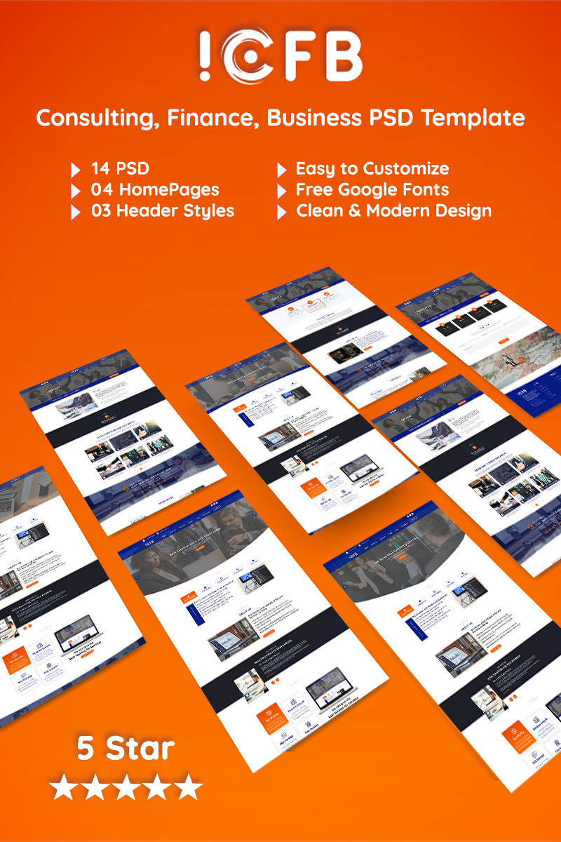ICFB Consulting PSD-sjabloon