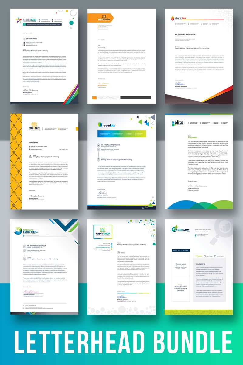 Letterhead Template Bundle Corporate Identity Template