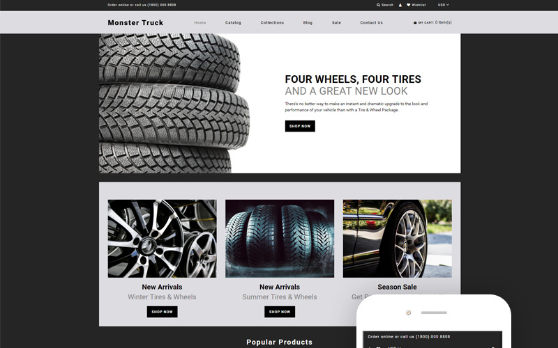 Monster Truck - Auto Parts Clean Shopify Theme