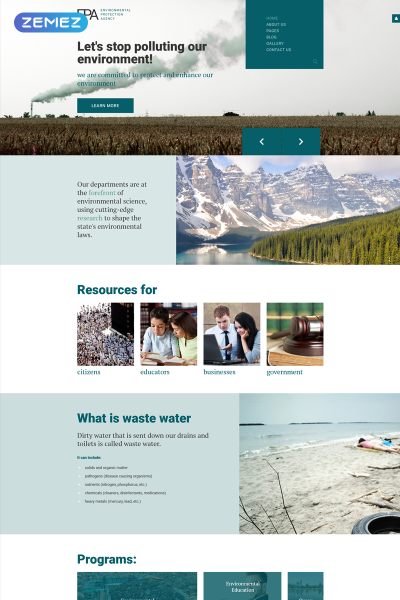 Responsive EPA - Environmental Creative Web Sitesi #78891