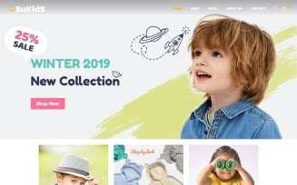 Sukids - Baby Shop & Kids Store WordPress . WooCommerce Theme