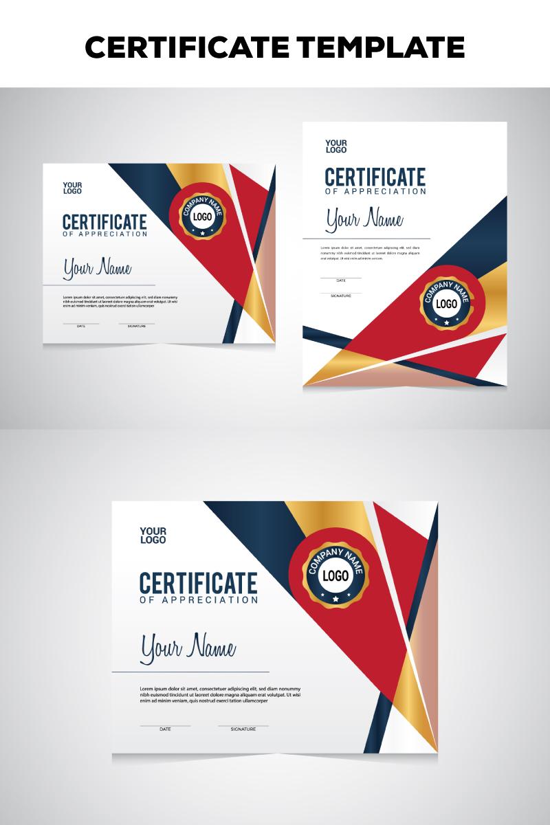 Szablon certyfikatu Geometric #78806
