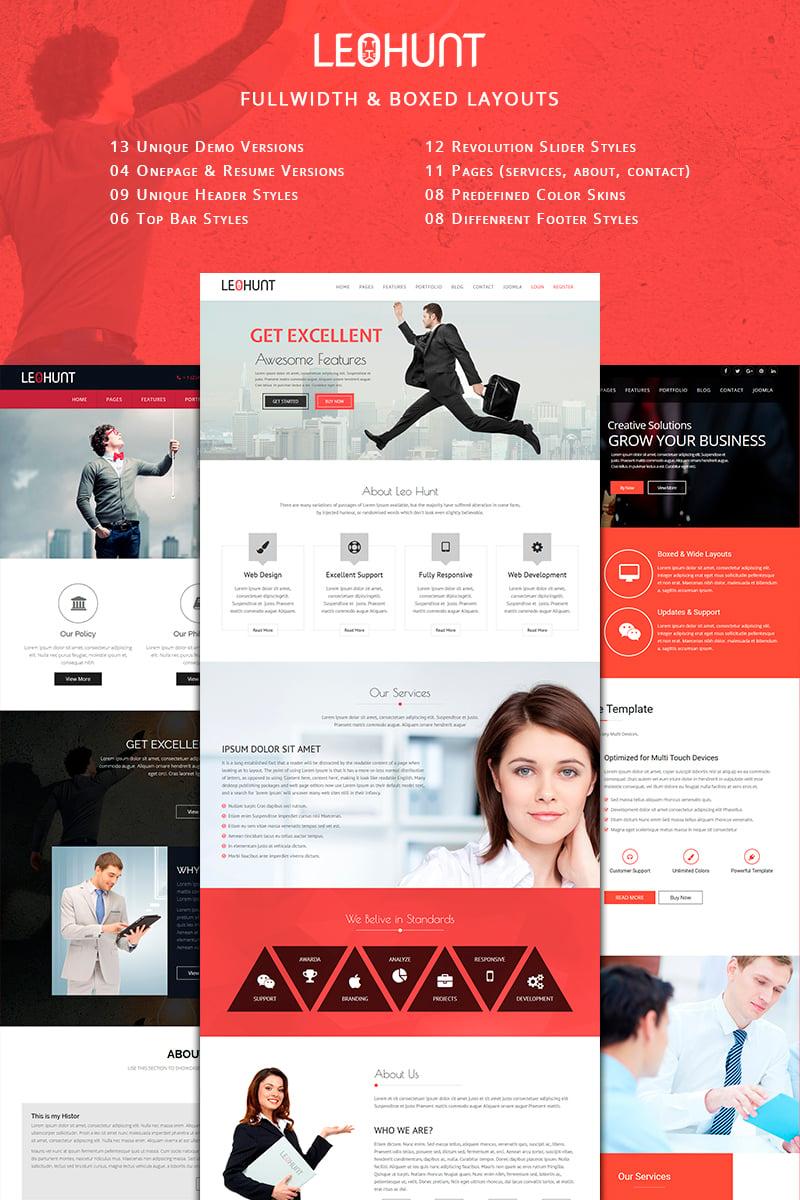 Szablon Joomla LeoHunt - Responsive MultiPurpose Business #78862 - zrzut ekranu