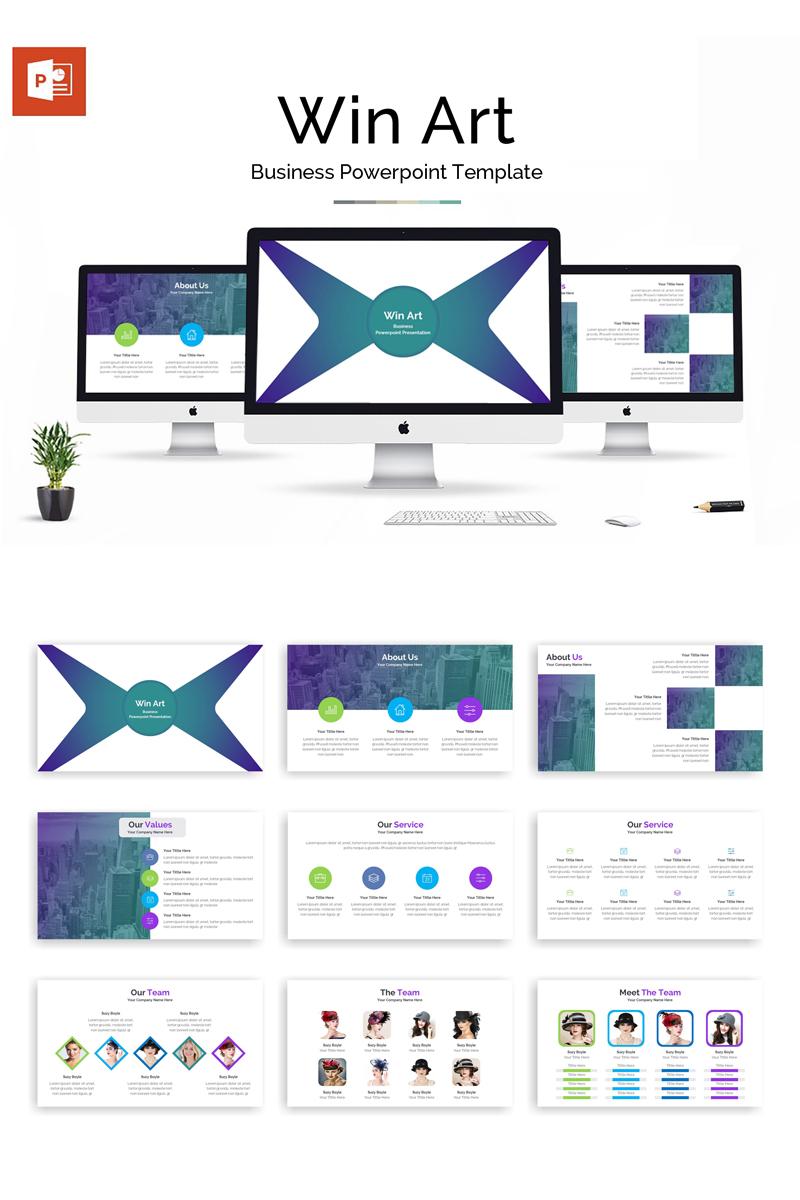 Win Art Business Presentation PowerPoint Template - screenshot