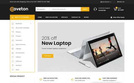 Caveton - Mega Store OpenCart Template