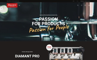 Beanserio - Professional Coffee Machine Store Clean Bootstrap Ecommerce PrestaShop Theme
