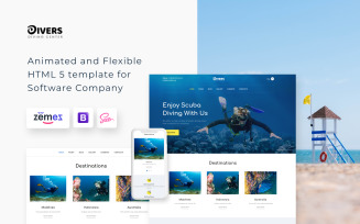Divers - Diving Center Multipage Classic HTML Website Template