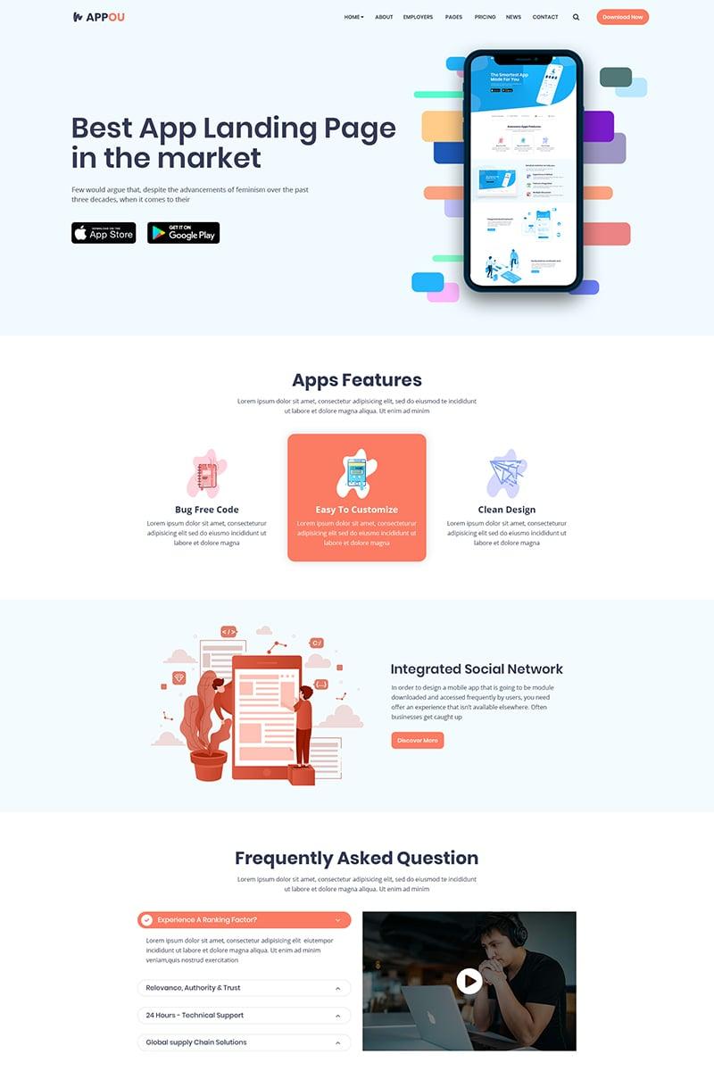 Appou - App PSD Template