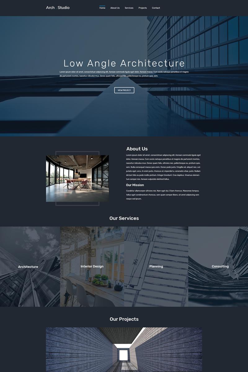 Arch Bureau Landing Page Template
