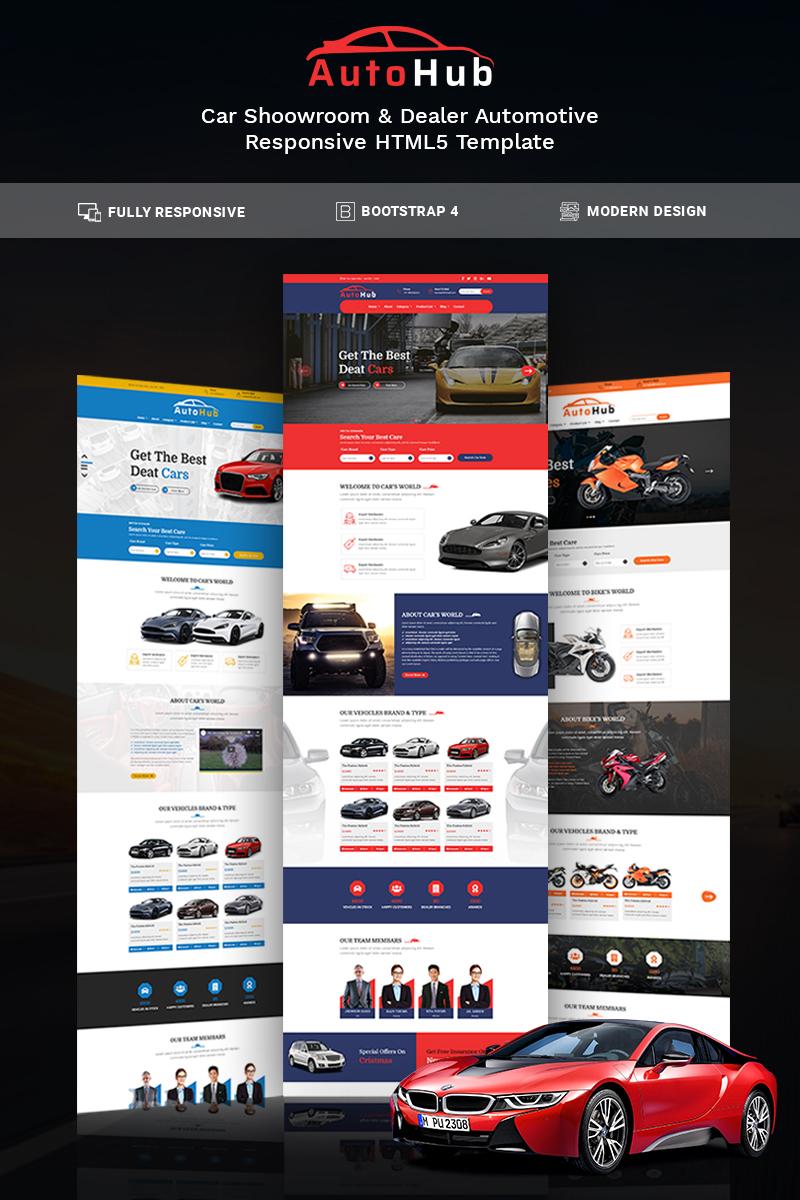 AutoHub Weboldal sablon 78947