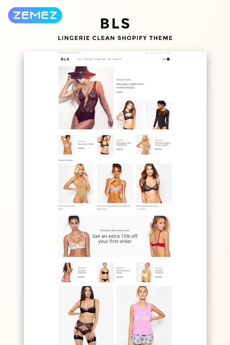 BLS - Lingerie E-commerce Clean №78941 - скриншот