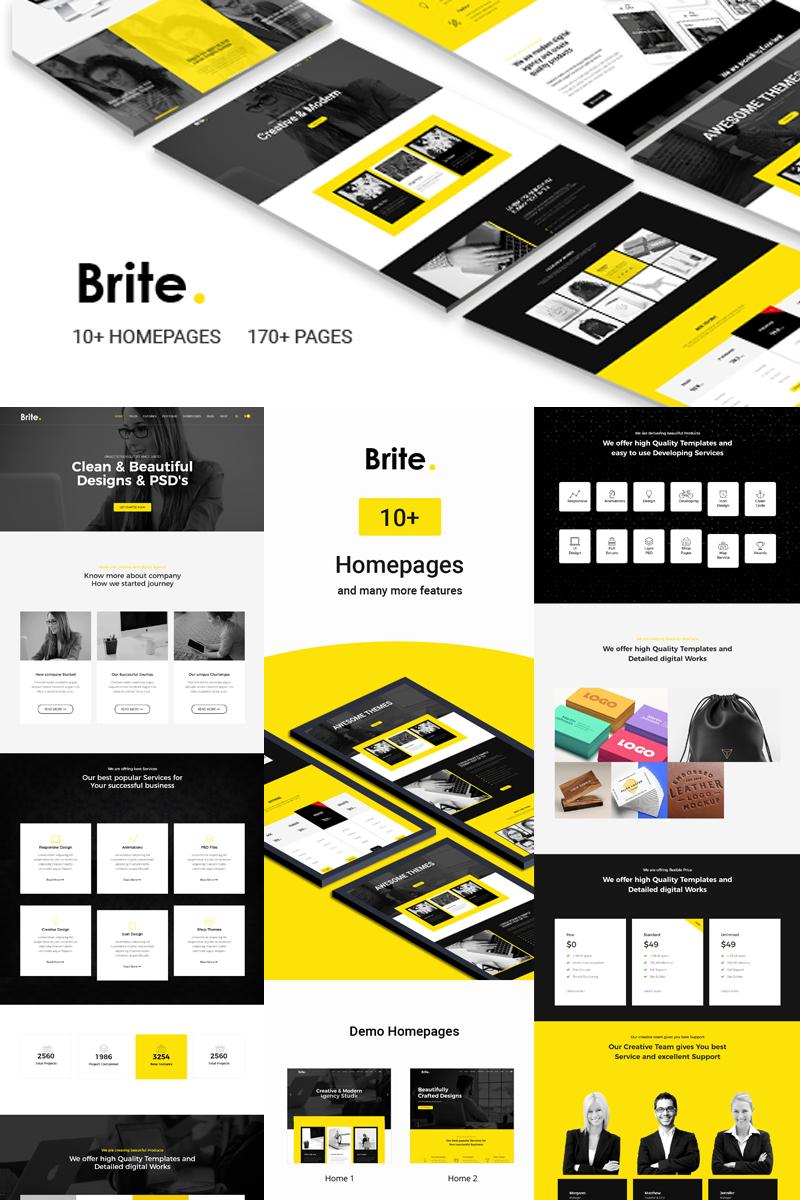 """Brite   Responsive Business"" thème Joomla adaptatif #78965"