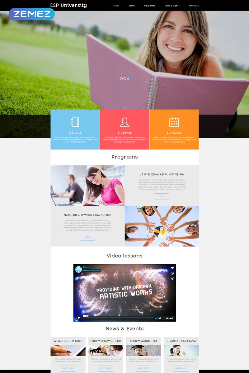 ESP University - Education Center Modern Joomla Template