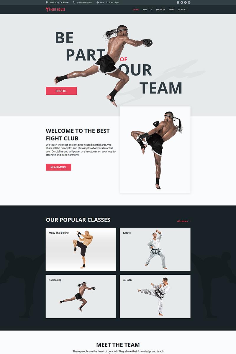 """Fight House - Martial Arts Club"" modèle Moto CMS HTML  #78906"