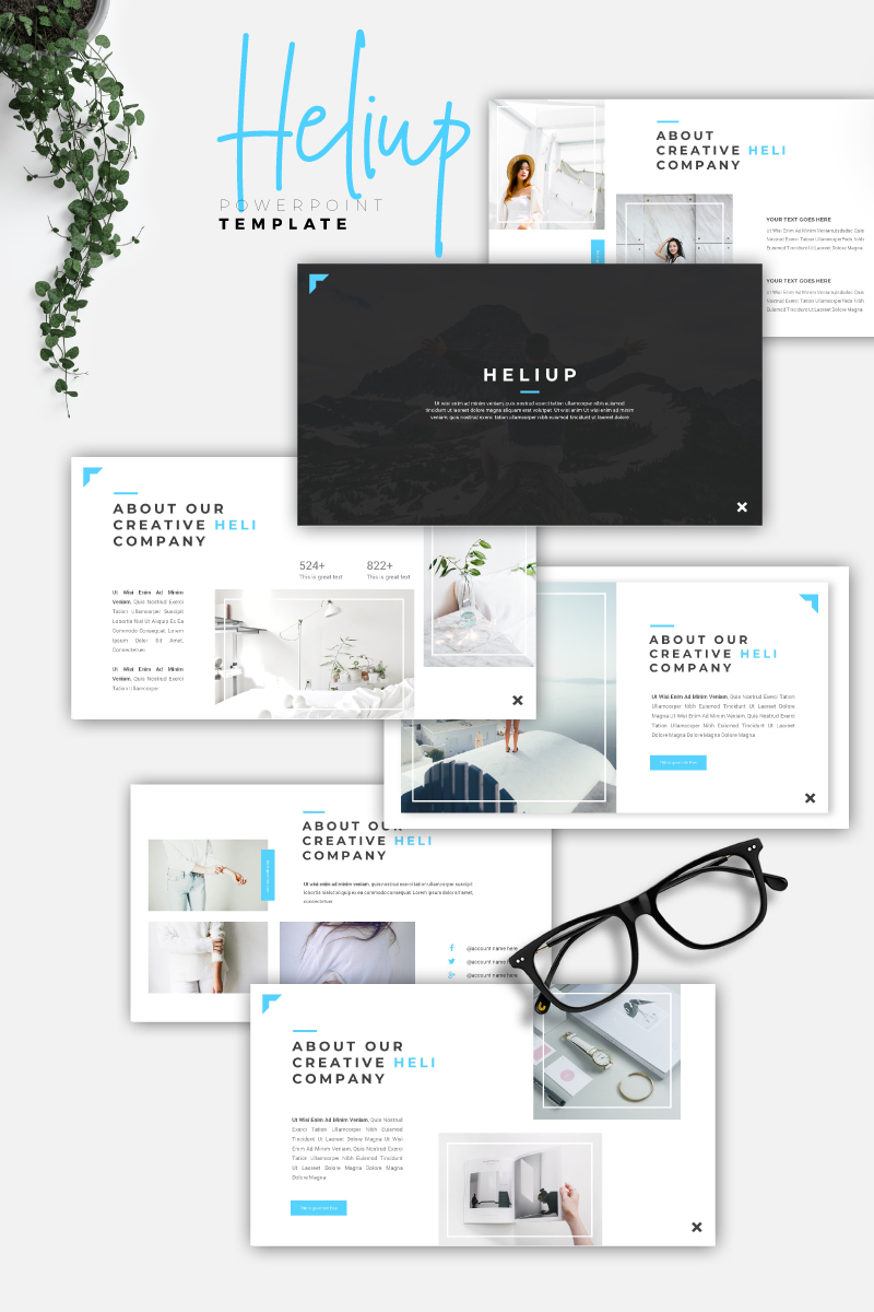 HELIUP - Creative PowerPoint Template - screenshot